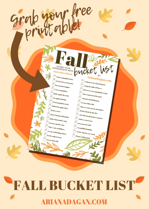 30 Fun Fall Activities for Singles, Couples and Families + FREE Fall Bucket List Printable!