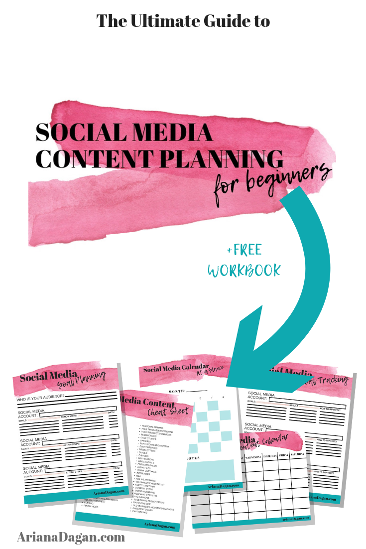 Social Media Content Planning for Beginners Workbook by Ariana Dagan