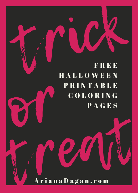 Halloween Printable Coloring Pages (for kids or adults)!