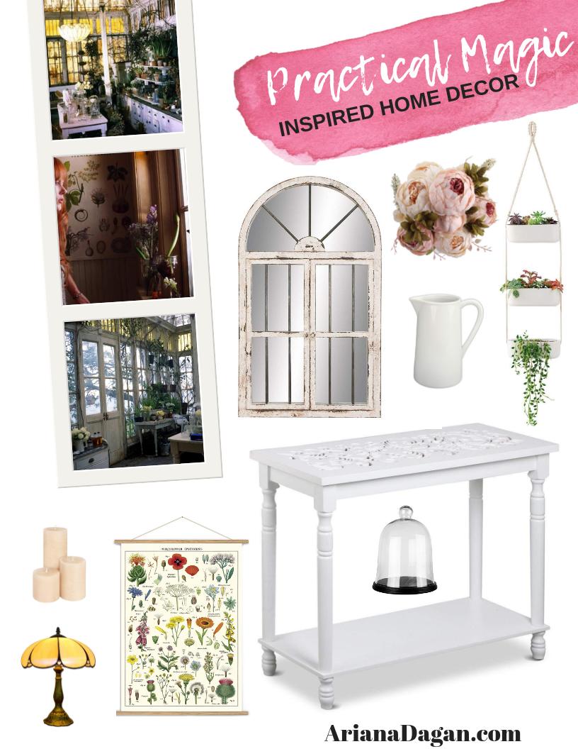 Practical magic inspired home decor