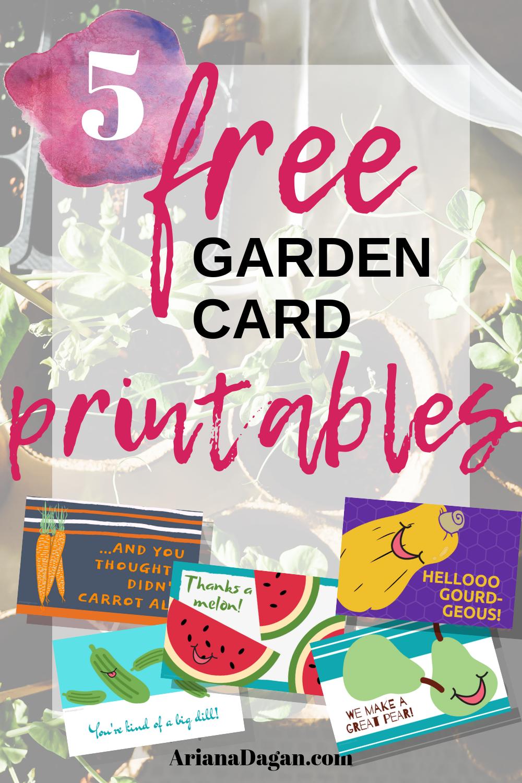 5 Free Garden Card Printables by Ariana Dagan