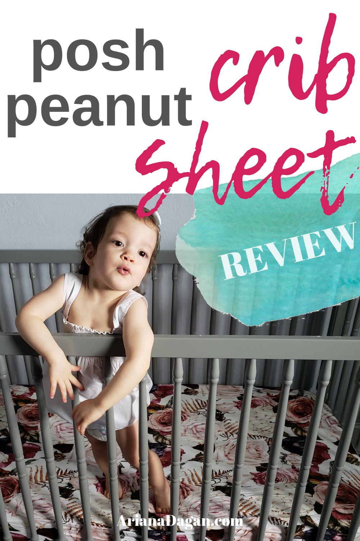 posh peanut children's crib sheet review by ariana dagan