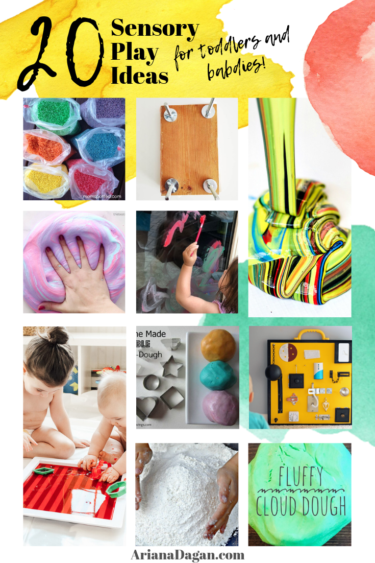 20 Sensory Play Ideas for Toddlers and Babies!